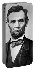 Abraham Lincoln -  Portrait Portable Battery Charger by International  Images