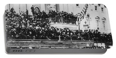 Abraham Lincoln Gives His Second Inaugural Address - March 4 1865 Portable Battery Charger