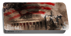 Portable Battery Charger featuring the painting Abraham Lincoln by Gull G