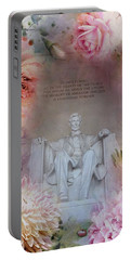 Abraham Lincoln Memorial At Spring Portable Battery Charger by Marianna Mills