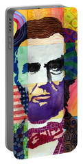 Abraham Lincoln Portrait Study Portable Battery Charger