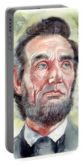 Abraham Lincoln Portrait Portable Battery Charger