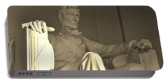 Abraham Lincoln Statue Portable Battery Charger