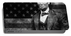 Abraham Lincoln With American Flag  Portable Battery Charger by Gull G