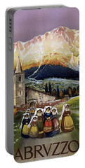 Abruzzo Italy Travel Poster 1920 Portable Battery Charger