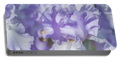 Absolute Treasure Closeup. The Beauty Of Irises Portable Battery Charger