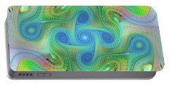 Portable Battery Charger featuring the digital art Abstract Gnarl by Deborah Benoit