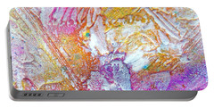 Portable Battery Charger featuring the painting Abstract 2 by Tracy Bonin
