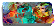 Portable Battery Charger featuring the digital art Abstract 3540 by Rafael Salazar