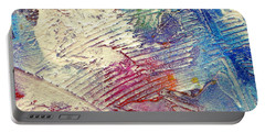 Portable Battery Charger featuring the painting Abstract 5 by Tracy Bonin
