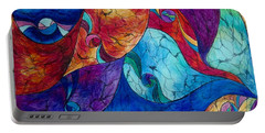 Portable Battery Charger featuring the drawing Abstract 6 by Megan Walsh