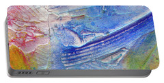 Portable Battery Charger featuring the painting Abstract 6 by Tracy Bonin