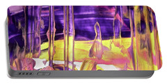Portable Battery Charger featuring the painting Abstract 6526 by Stephanie Moore