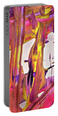 Portable Battery Charger featuring the painting Abstract 6527 by Stephanie Moore