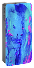 Portable Battery Charger featuring the painting Abstract 6541 by Stephanie Moore