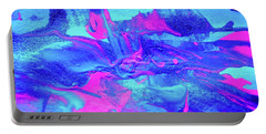 Portable Battery Charger featuring the painting Abstract 6544 by Stephanie Moore