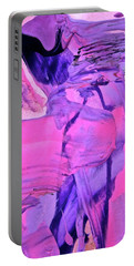 Portable Battery Charger featuring the painting Abstract 6558 by Stephanie Moore