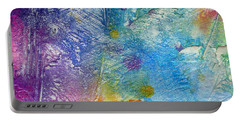 Portable Battery Charger featuring the painting Abstract 7 by Tracy Bonin