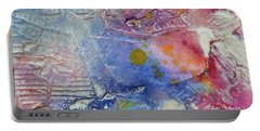 Portable Battery Charger featuring the painting Abstract 8 by Tracy Bonin