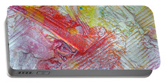 Portable Battery Charger featuring the painting Abstract 9 by Tracy Bonin