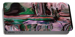 abstract A Time And A Different Place  Portable Battery Charger by Sherri's Of Palm Springs