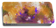 Portable Battery Charger featuring the painting Abstract Acrylic Painting Purple  by Saribelle Rodriguez