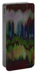 Portable Battery Charger featuring the painting Abstract - Another View Of The City by Lenore Senior