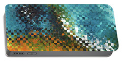 Portable Battery Charger featuring the painting Abstract Art - Pieces 9 - Sharon Cummings by Sharon Cummings