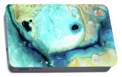 Abstract Art - Holding On - Sharon Cummings Portable Battery Charger by Sharon Cummings
