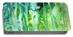 Portable Battery Charger featuring the painting Abstract Art Waterfall by Saribelle Rodriguez