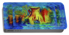 Abstract Artgo With The Flow Portable Battery Charger by Sherri's Of Palm Springs