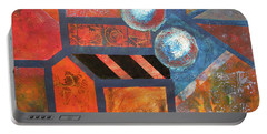 Portable Battery Charger featuring the mixed media Abstract Autumn by Riana Van Staden