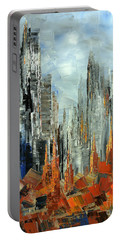 Portable Battery Charger featuring the painting Abstract Autumn by Tatiana Iliina