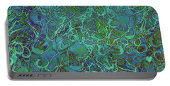 Abstract Azurite Portable Battery Charger