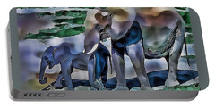 Abstract Baby Elephant  Portable Battery Charger