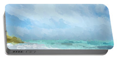 Abstract Beach Afternoon  Portable Battery Charger