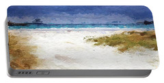 Abstract Beach Horizon Portable Battery Charger by Anthony Fishburne