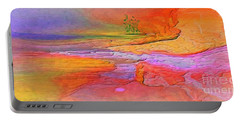 Abstract Beyond The Sea Portable Battery Charger by Sherri's Of Palm Springs
