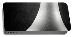 Abstract-black And White Portable Battery Charger