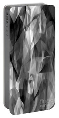 Portable Battery Charger featuring the digital art Abstract Black And White Symphony by Rafael Salazar