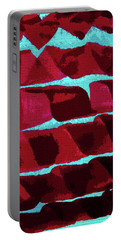 Abstract Black Walnut Ink Portable Battery Charger by Tom Janca