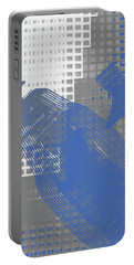 Abstract Blue And Grey 1 Portable Battery Charger by Keshava Shukla