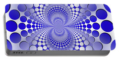 Abstract Blue And White Pattern Portable Battery Charger by Vladimir Sergeev
