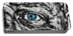 Portable Battery Charger featuring the photograph Abstract Blue Eye by Scott Carruthers