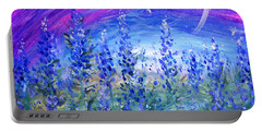 Abstract Bluebonnets Portable Battery Charger