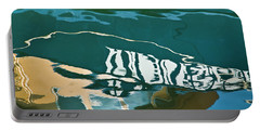 Abstract Boat Reflection Portable Battery Charger