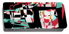 Portable Battery Charger featuring the digital art Abstract Boxes by Jessica Wright