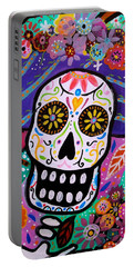 Portable Battery Charger featuring the painting Abstract Catrina by Pristine Cartera Turkus