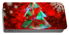 Abstract Christmas Bright Portable Battery Charger