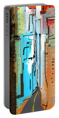 Abstract City Downtown Portable Battery Charger